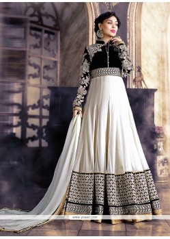 Unique Georgette Patch Border Work Anarkali Salwar Kameez