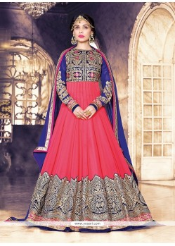 Voguish Patch Border Work Georgette Anarkali Salwar Kameez