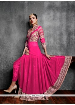 Fascinating Embroidered Work Anarkali Salwar Kameez