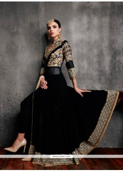 Surpassing Georgette Patch Border Work Anarkali Salwar Kameez