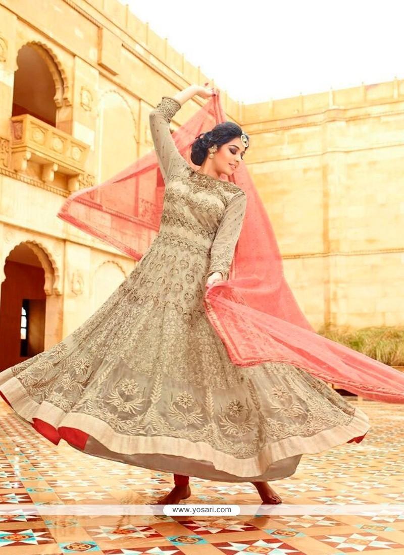 Festal Resham Work Anarkali Salwar Kameez
