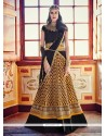 Trendy Georgette Black Embroidered Work A Line Lehenga Choli
