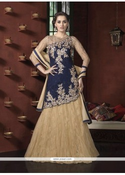 Adorable Net Embroidered Work A Line Lehenga Choli