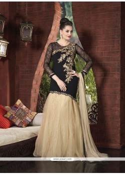 Striking Resham Work Net A Line Lehenga Choli