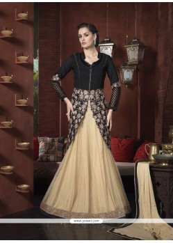 Black Resham Work A Line Lehenga Choli