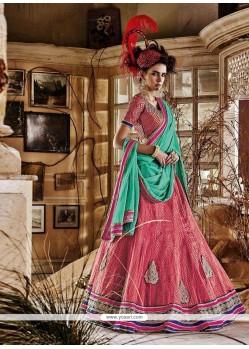 Blooming Embroidered Work A Line Lehenga Choli