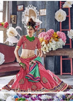 Superb Embroidered Work Net A Line Lehenga Choli