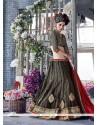 Enchanting Net Black A Line Lehenga Choli