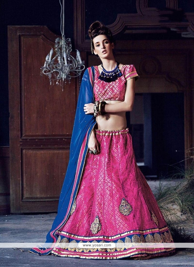 Aesthetic Embroidered Work A Line Lehenga Choli