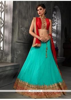 Charismatic Turquoise A Line Lehenga Choli