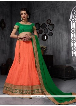 Superlative Orange A Line Lehenga Choli