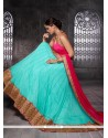 Observable Net Embroidered Work A Line Lehenga Choli