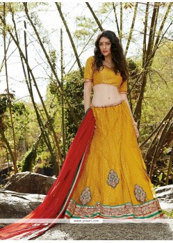 Unique Net A Line Lehenga Choli
