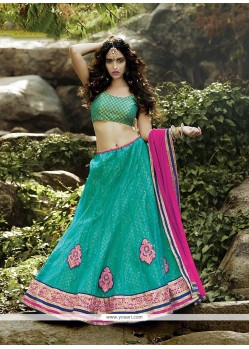 Regal Net Embroidered Work A Line Lehenga Choli