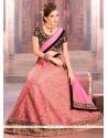 Aristocratic Pink Net A Line Lehenga Choli