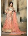 Resplendent Patch Border Work A Line Lehenga Choli