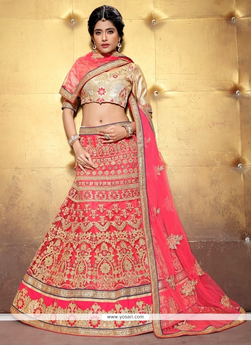 Lovely Net A Line Lehenga Choli