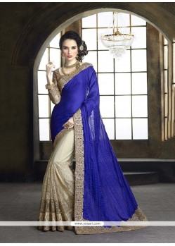 Miraculous Tussar Silk Embroidered Work Classic Designer Saree
