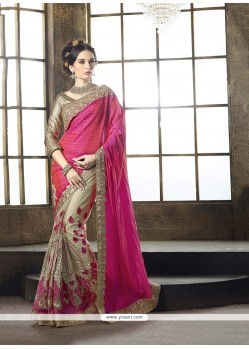Transcendent Patch Border Work Tussar Silk Classic Designer Saree