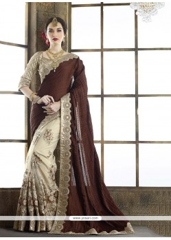 Glorious Brown Classic Designer Saree
