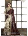 Glorious Brown Classic Designer Saree
