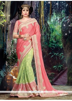 Angelic Embroidered Work Fancy Fabric Classic Designer Saree