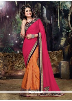 Aesthetic Patch Border Work Classic Designer Saree