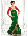 Excellent Green Cotton Saree
