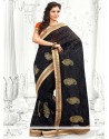 Deserving Black Resham Cotton Saree