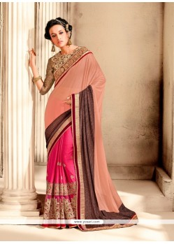 Preferable Lycra Embroidered Work Designer Saree