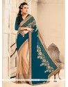 Customary Embroidered Work Georgette Designer Saree
