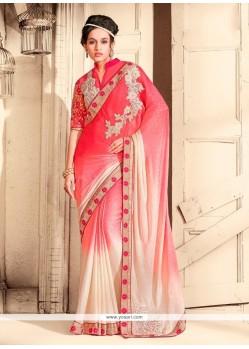 Fine Jacquard Pink Designer Saree