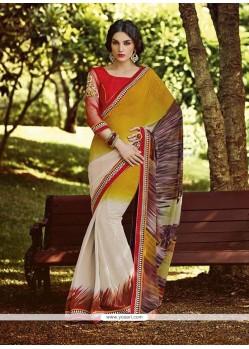 Renowned Embroidered Work Designer Saree