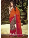 Gilded Multi Colour Georgette Designer Saree