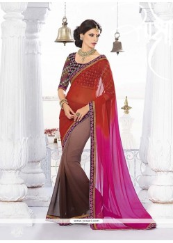 Grandiose Embroidered Work Classic Designer Saree
