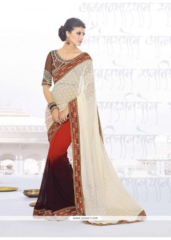 Exquisite Georgette Multi Colour Classic Designer Saree