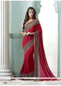 Angelic Georgette Embroidered Work Designer Saree