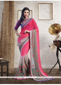 Ideal Pink Designer Saree