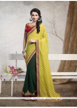 Impeccable Georgette Embroidered Work Designer Saree