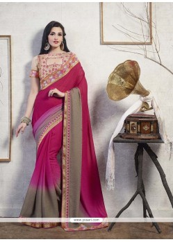 Baronial Jacquard Patch Border Work Designer Saree
