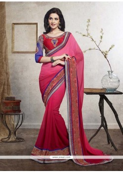 Modernistic Georgette Embroidered Work Designer Saree