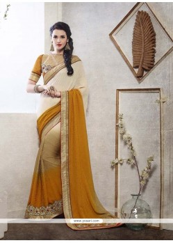 Elegant Jacquard Patch Border Work Designer Saree