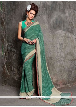 Intrinsic Print Work Casual Saree
