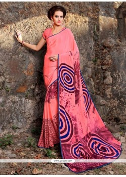 Topnotch Print Work Casual Saree