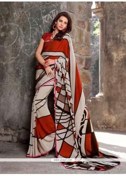 Immaculate Faux Crepe Designer Saree
