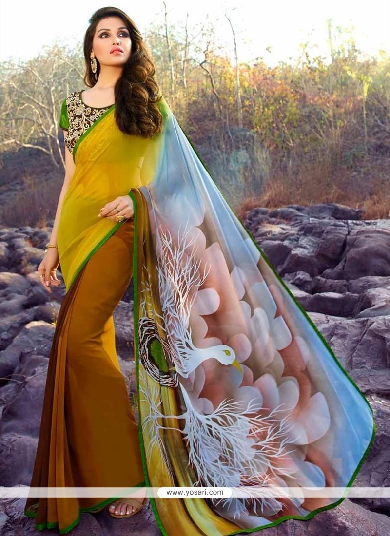 Prodigious Designer Saree For Festival