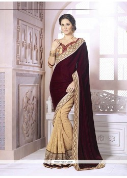 Flattering Georgette Embroidered Work Classic Designer Saree