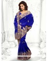 Beauteous Blue Bhagalpuri Silk Saree