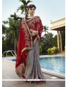 Celestial Patch Border Work Georgette Classic Designer Saree