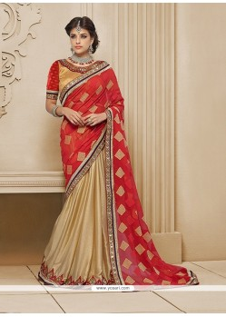 Festal Embroidered Work Classic Designer Saree